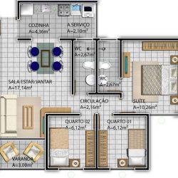 Imagem do Apartamentos Tipo II - Plaza Mayor